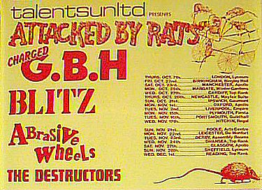 GBH tour poster - gig did not happen