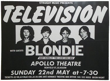 Television gig on 22.05.1977 with Blondie in support