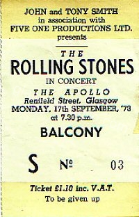 The Rolling Stones - Billy Preston - 17/09/1973