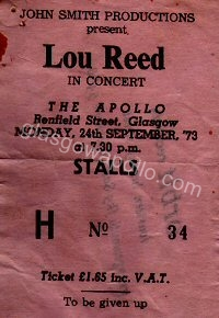 Lou Reed - The Persuasions - 24/09/1973