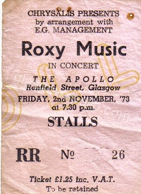 Roxy Music - Leo Sayer - 02/11/1973