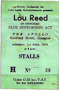 Lou Reed - Ducks Deluxe - 03/06/1974