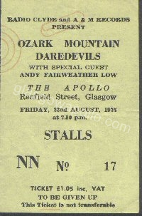 The Ozark Mountain Daredevils - Andy Fairweather Low - 22/08/1975