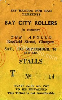 Bay City Rollers - The Dead End Kids - 11/09/1976