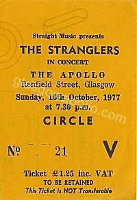 The Stranglers - The REZILLOS - 16/10/1977
