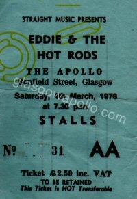 Eddie and the Hot Rods - Squeeze - The Radio Stars - 04/03/1978