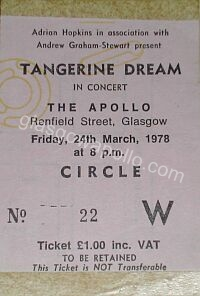 Tangerine Dream - 24/03/1978