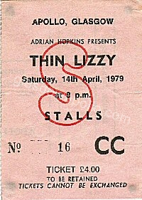 Thin Lizzy - The Vipers - 14/04/1979