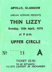 Thin Lizzy - The Vipers - 15/04/1979