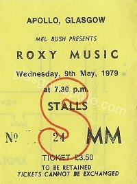 Roxy Music - The Tourists - 09/05/1979