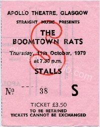 The Boomtown Rats - Protex - 11/10/1979