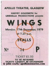 Paul McCartney & Wings - Earl Okin - 17/12/1979