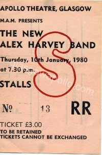 The New Alex Harvey Band - 10/01/1980