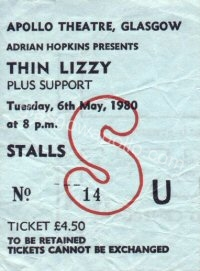 Thin Lizzy - The Lookalikes - 06/05/1980