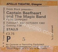 Captain Beefheart and the Magic Band - The Comsat Angels - 28/10/1980