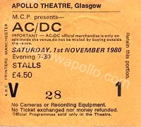 AC/DC - Starfighters - 01/11/1980