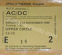 AC/DC - Starfighters - 02/11/1980