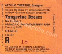 Tangerine Dream - 03/11/1980