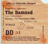 The Damned - The Straps - 07/12/1980