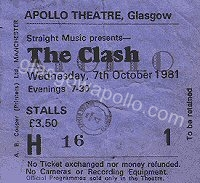 The Clash - Theatre Of Hate - 07/10/1981