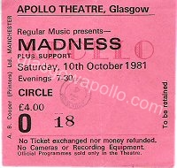 Madness - The Belle Stars - 10/10/1981