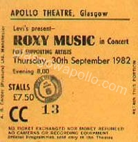 Roxy Music - The Young Ones - 30/09/1982
