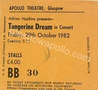 Tangerine Dream - 29/10/1982