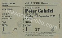 Peter Gabriel - Zerra One - 12/09/1983
