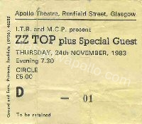 ZZ Top - Wendy and the Rockets - 24/11/1983