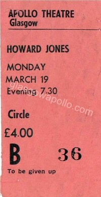 Howard Jones - Endgames - 19/03/1984