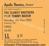 The Clancy Brothers plus Tommy Makem - 06/05/1985